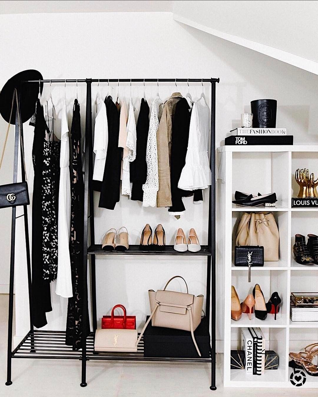 rack in can black gar honey clothing adjustable garment closet racks storage organization portable chrome wardrobes steel do b n
