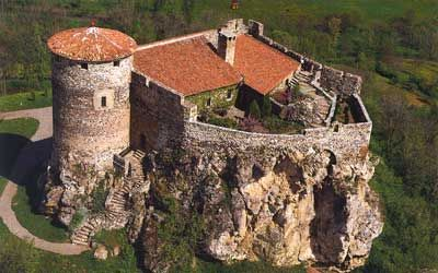 The garden Of the Crusades Castle, French castles