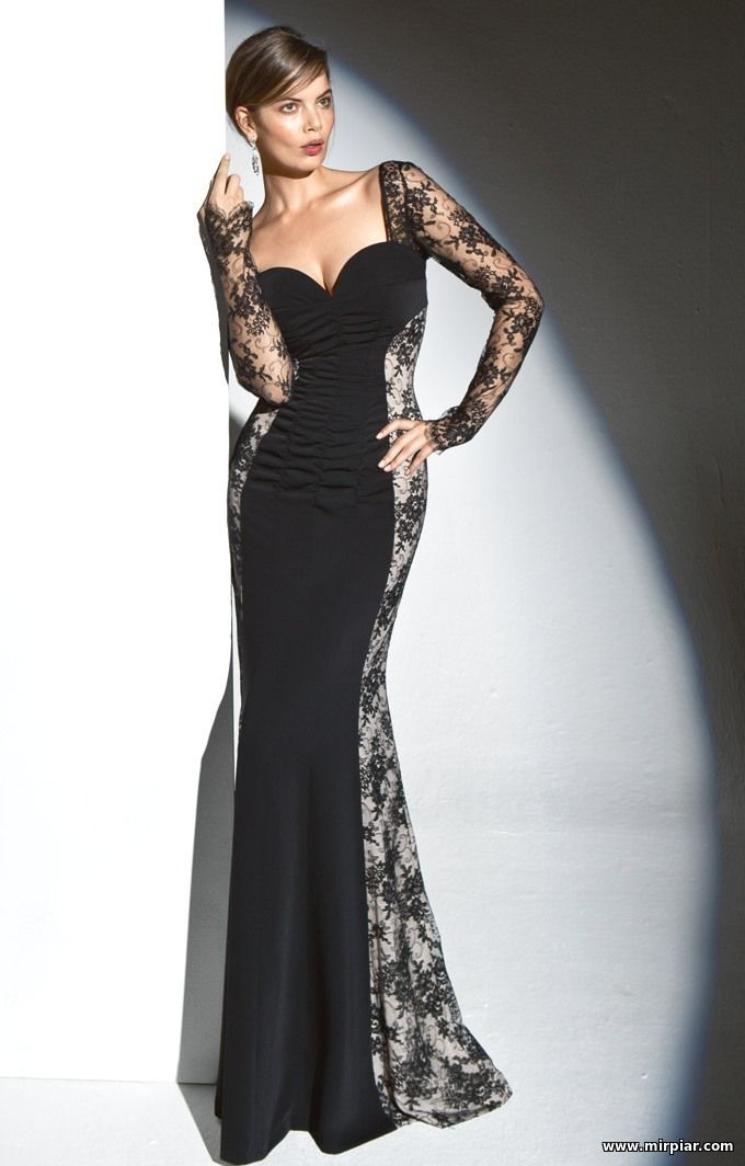 Вечернее платье модель с выкройками