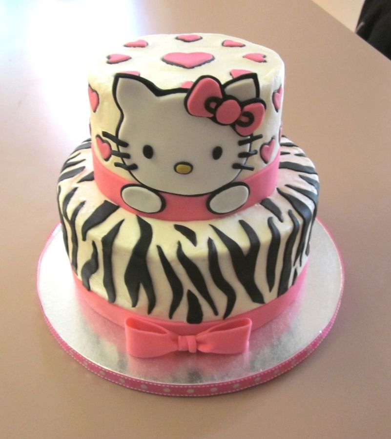 Hello Kitty Cakerthday Cake Idea For A Three Year Old Kids