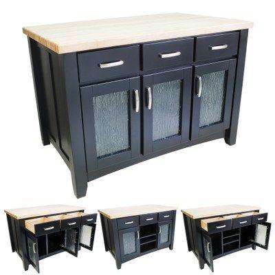 Best Black Kitchen Island With Glass Doors Shaker Style Door 400 x 300