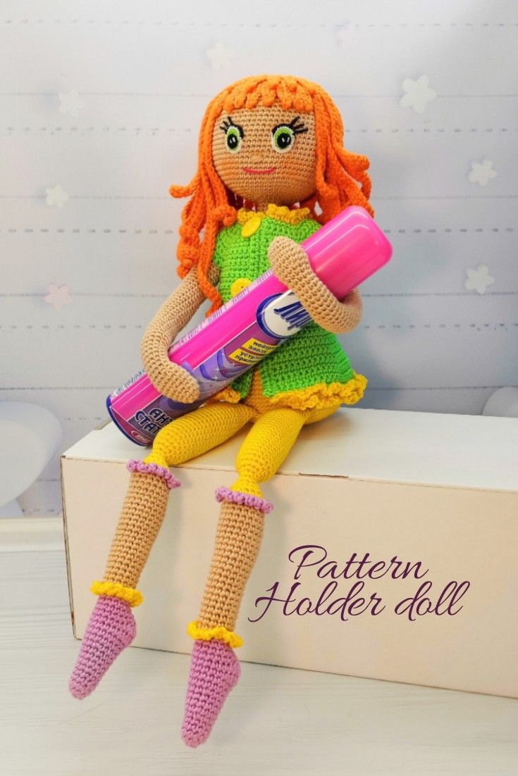 pattern holder doll, crochet doll tutorial, diy amigurumi doll #instructionstodollpatterns