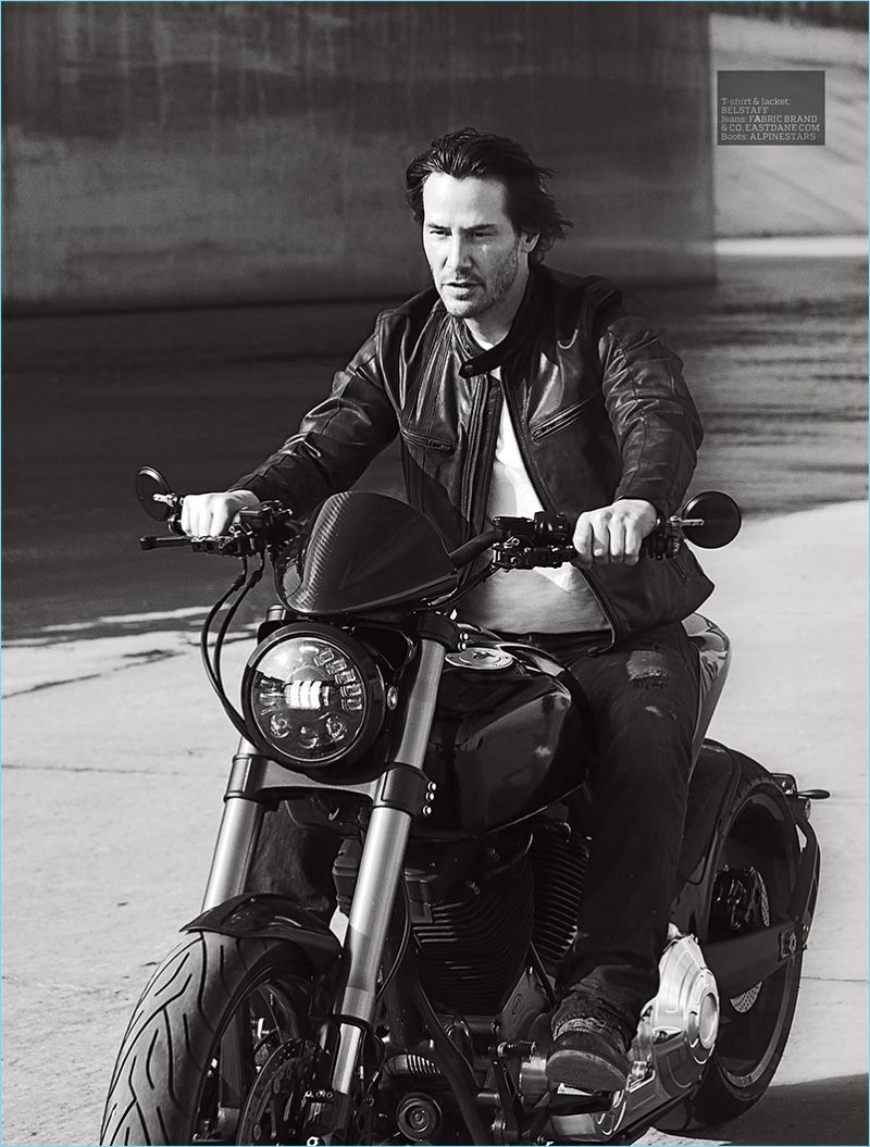 Leather jacket photoshoot - Keanu Reeves Covers Esquire Uk Men S Fitness