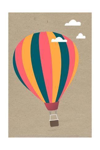 'Hot Air Balloon' Art Print - Lantern Press | Art.com