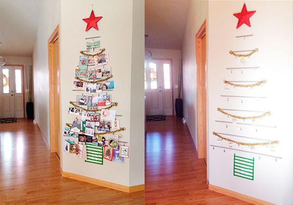 6 Arboles De Navidad Para Espacios Pequenos Pequeocio Pequenos Arboles De Navidad Ideas Para Arboles De Navidad Arbol De Navidad Pared