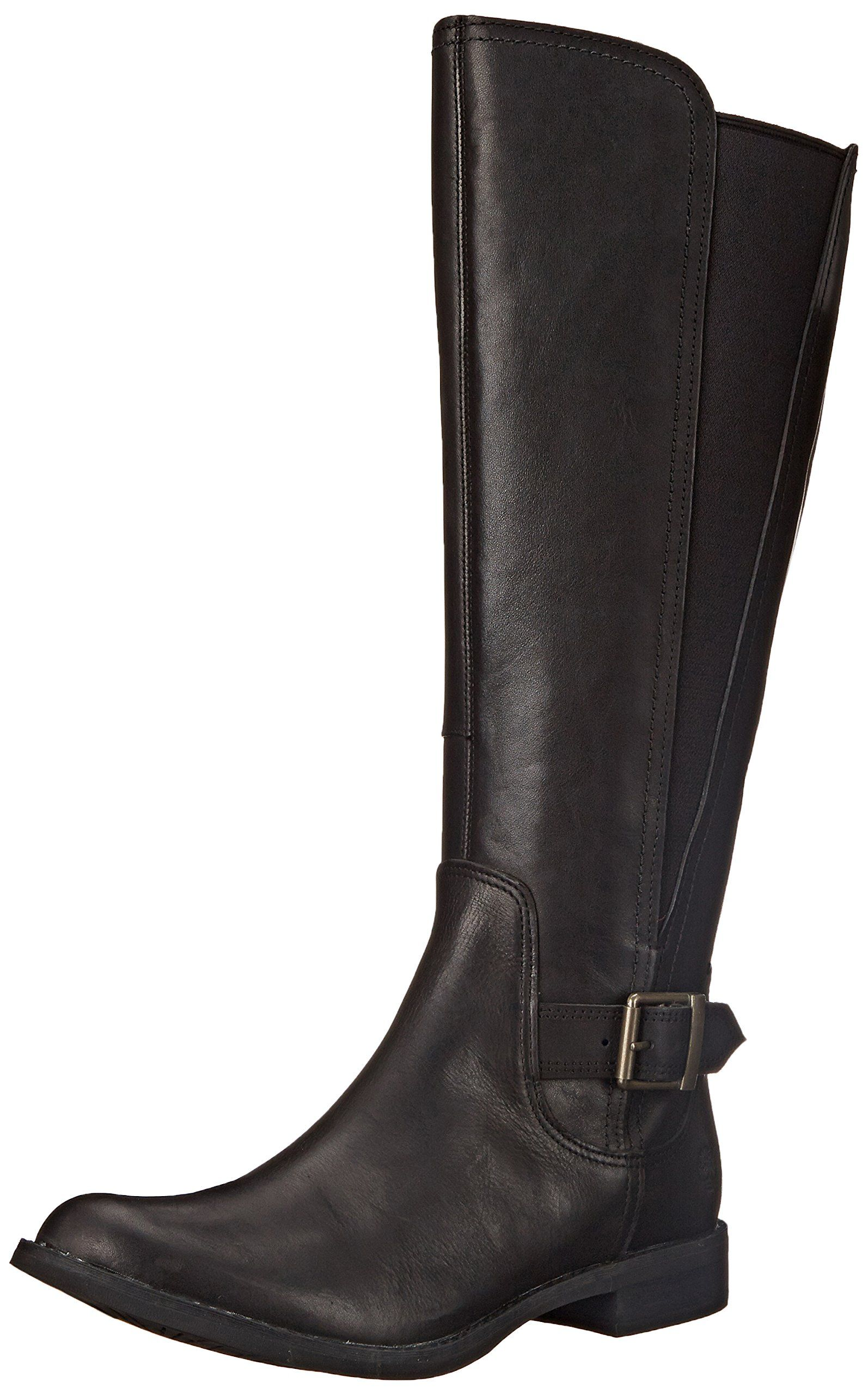 Timberland Womens Savin Hill All Fit Tall Boot Black Smooth