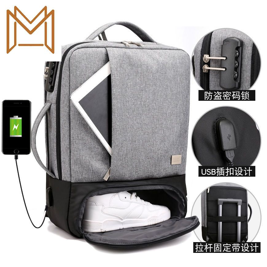 Function Both Shoulders Package Men Women High Middle School Student Bag Business Affairs Leisure Ti