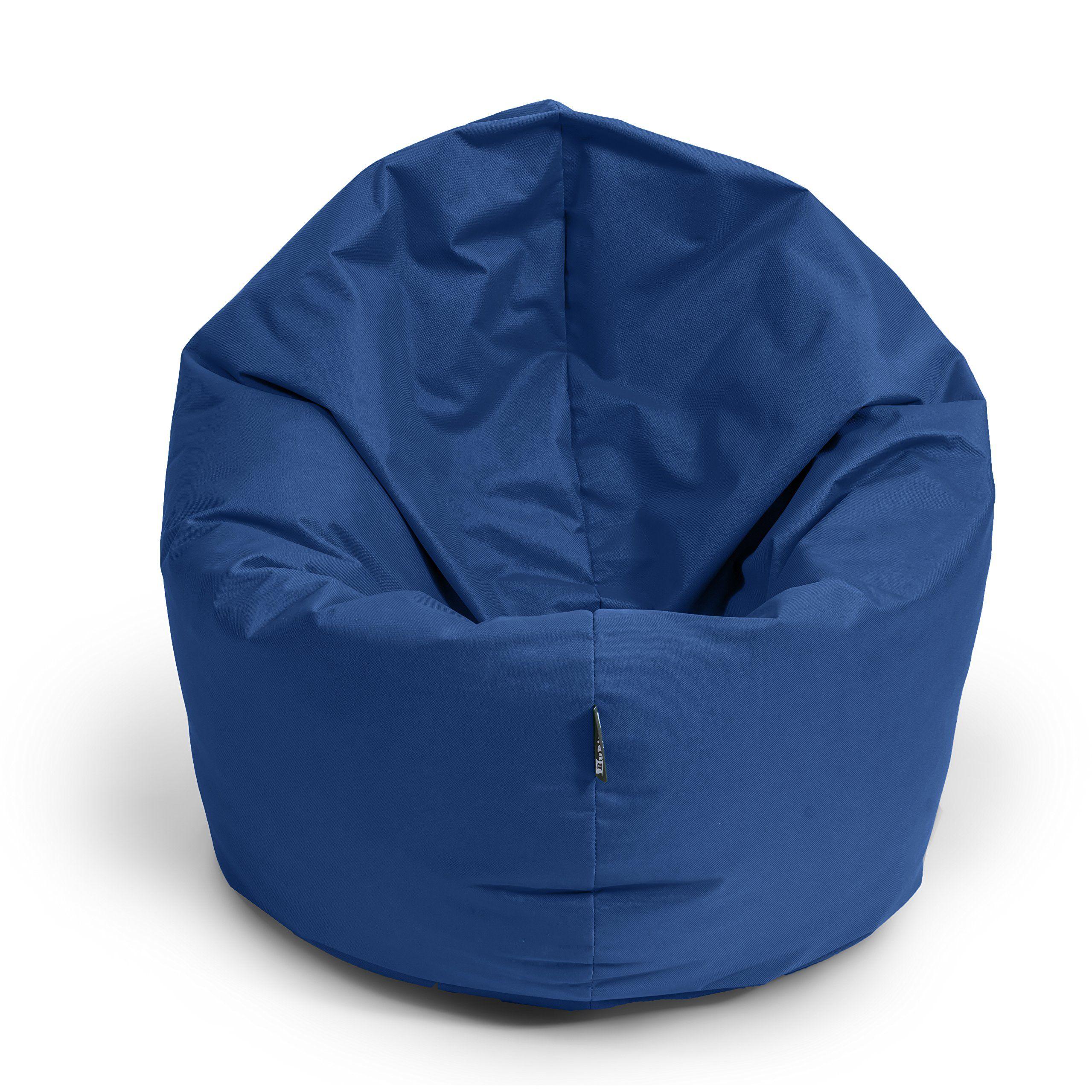 Bubibag Sitzsack 2 In 1 Funktion Sitzkissen Mit Eps Styroporf Llung 32 Farben Bodenkissen Kissen Sessel Sofa 125cm Dunkelblau M Sitzkissen Bodenkissen Sitzen