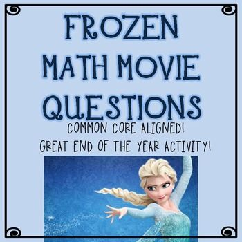Christmas Math Movie Questions to accompany Frozen | Scientific ...