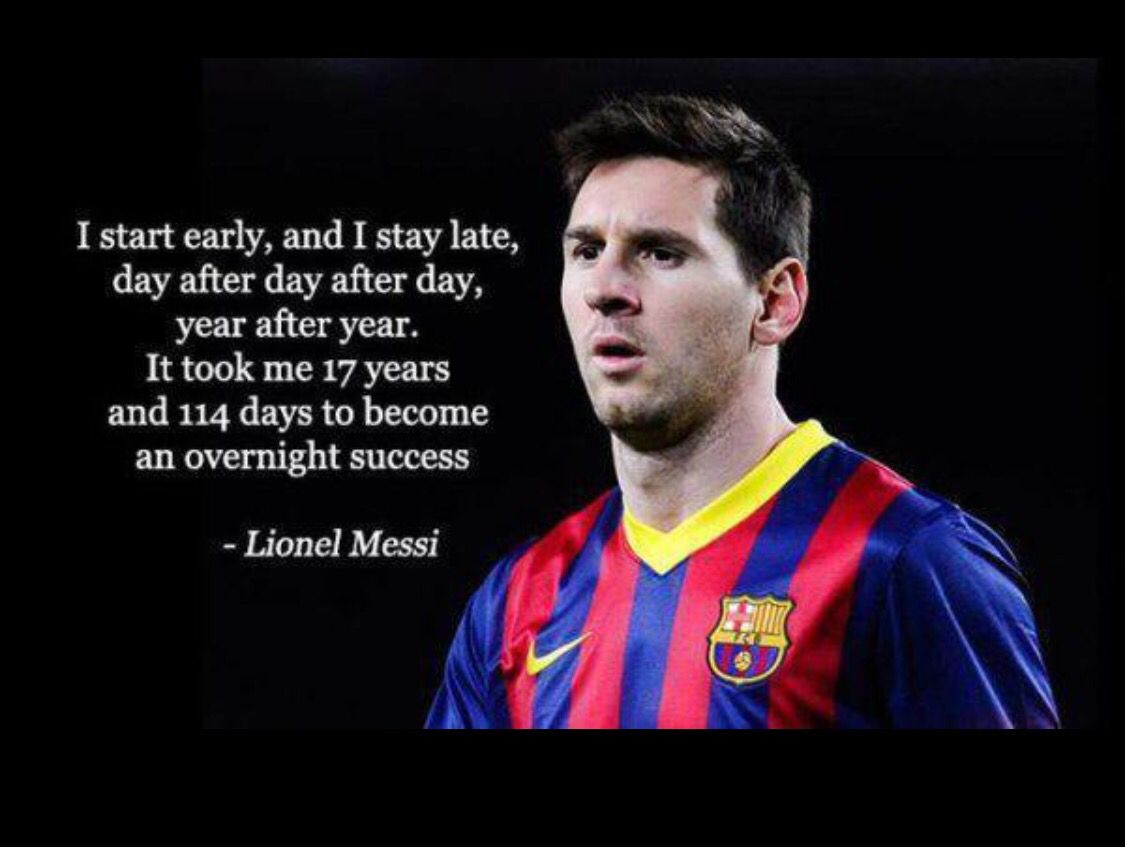 Powerful statement #able2succeed #messi#leo messi#quotes # ...