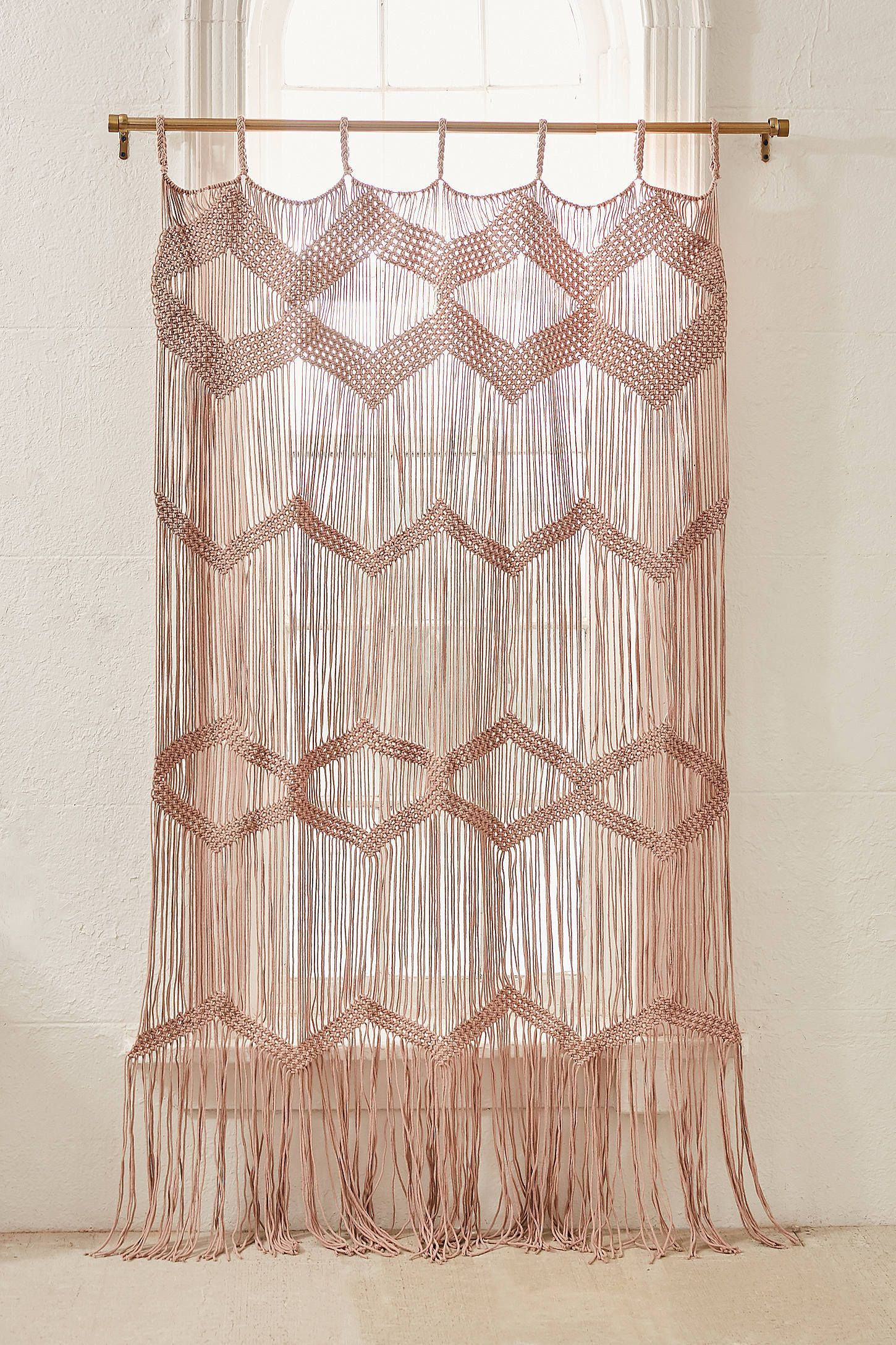 Meadowsweet Macrame Panel Urban Outfitters Fabric Room