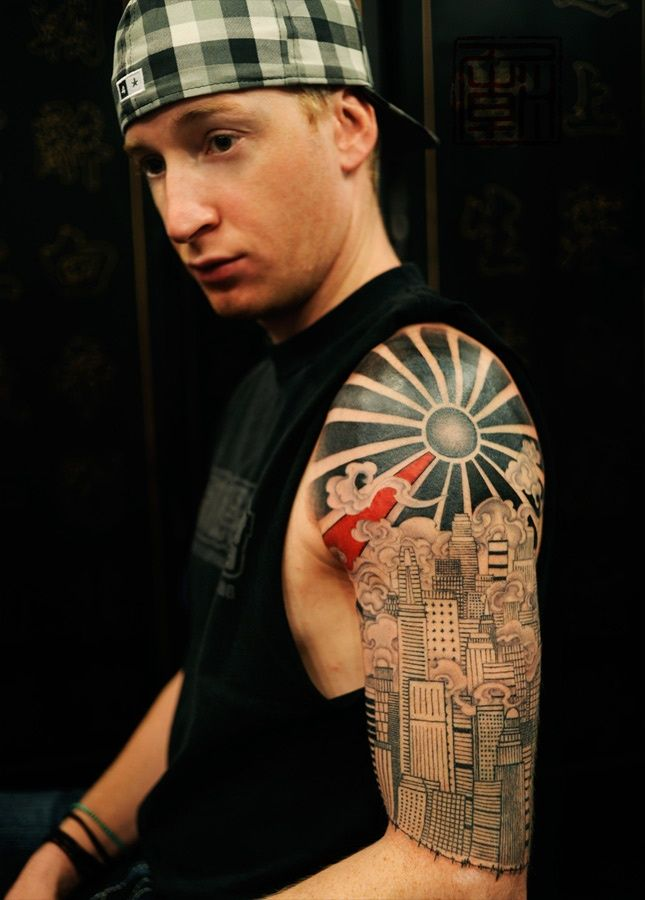 Pin By Tattoomaze On Rising Sun Tribal Tattoo Tatouage Tatouage