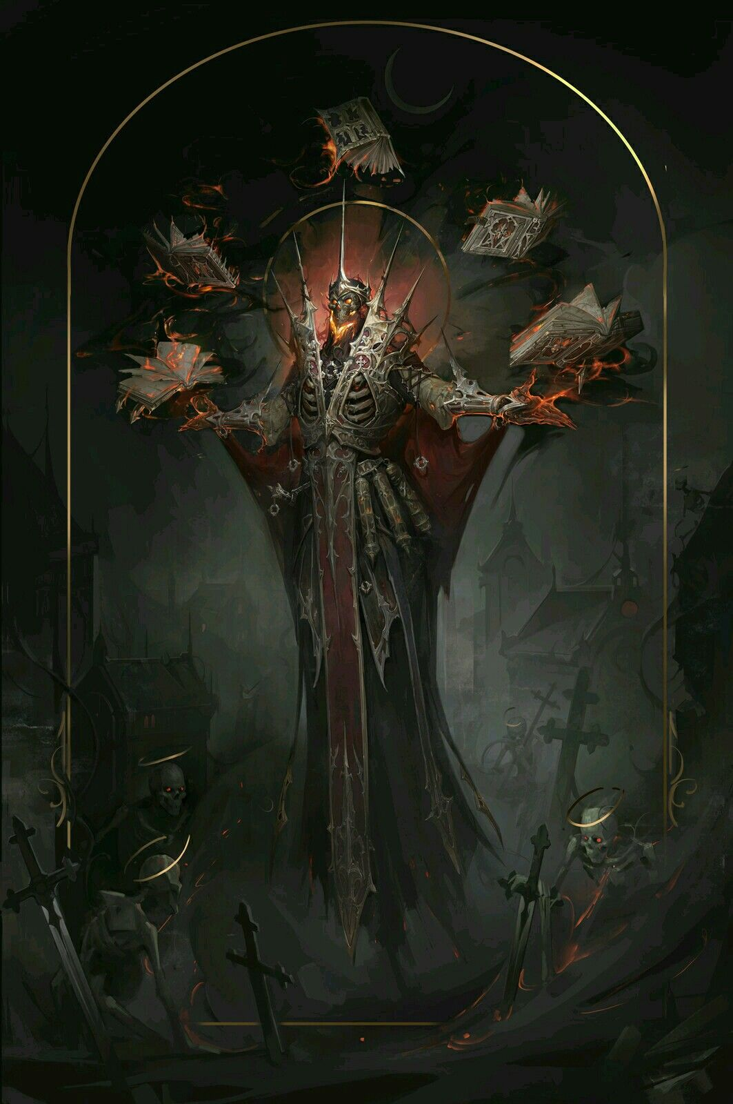 Lich Artstation Dark Fantasy Art Fantasy Artwork Fantasy Art