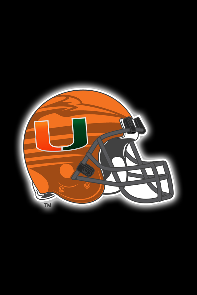 Get A Set Of 12 Officially Ncaa Licensed Miami Hurricanes Iphone Wallpapers Sized Precisely For Any Model Of I Miami Hurricanes Team Colors Hurricanes Football