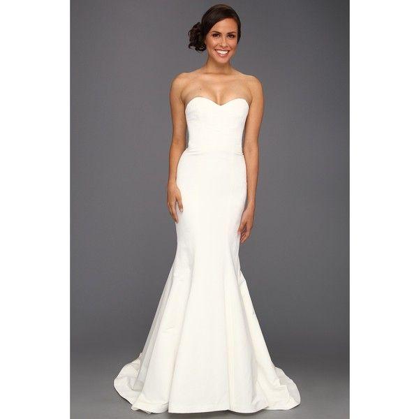 Nicole Miller Dakota Silk Faille Strapless Gown (Ivory) Women\'s ...