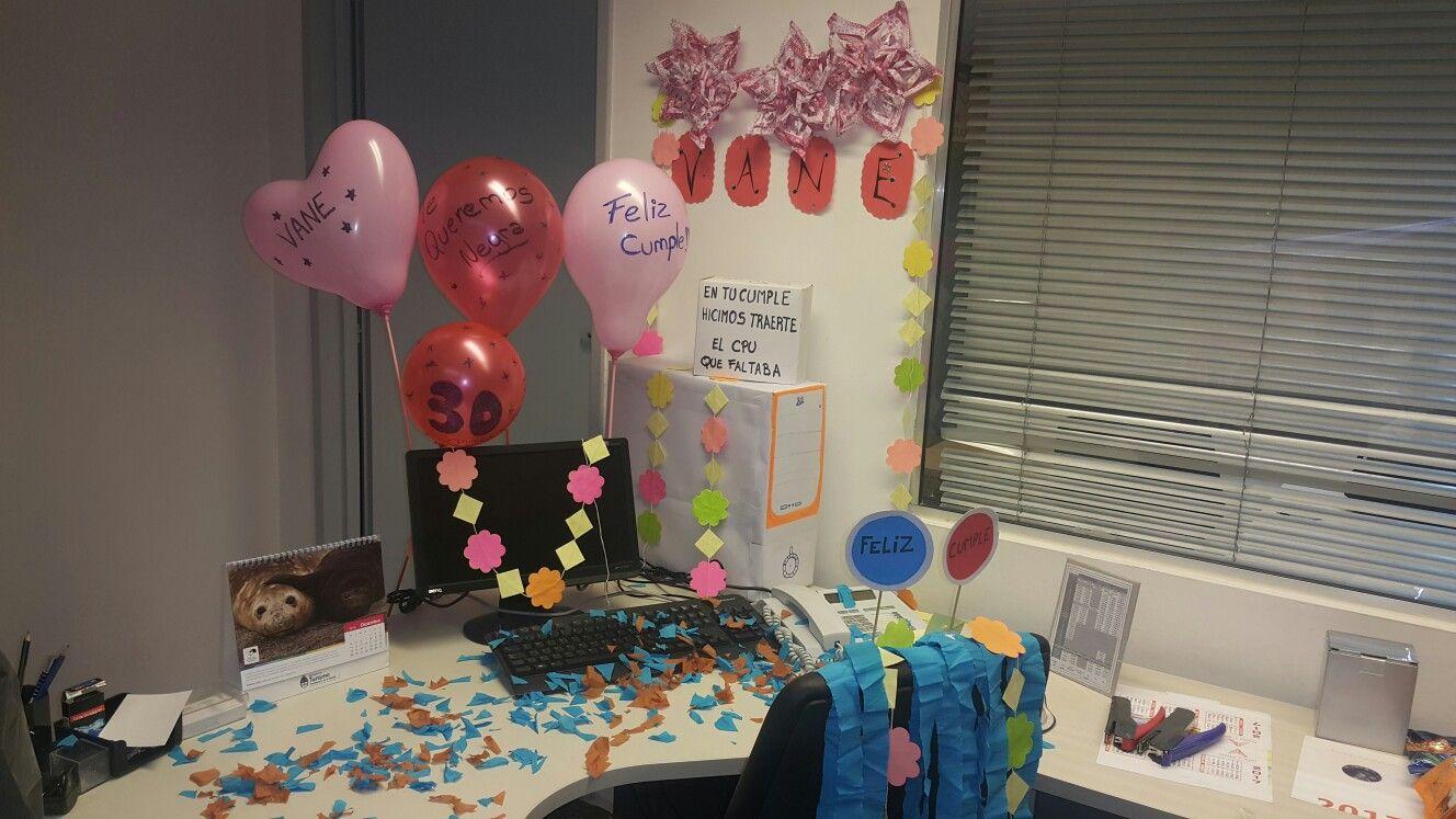 Cumplea os decoracion de oficina cumplea os deco oficina for Deco oficina