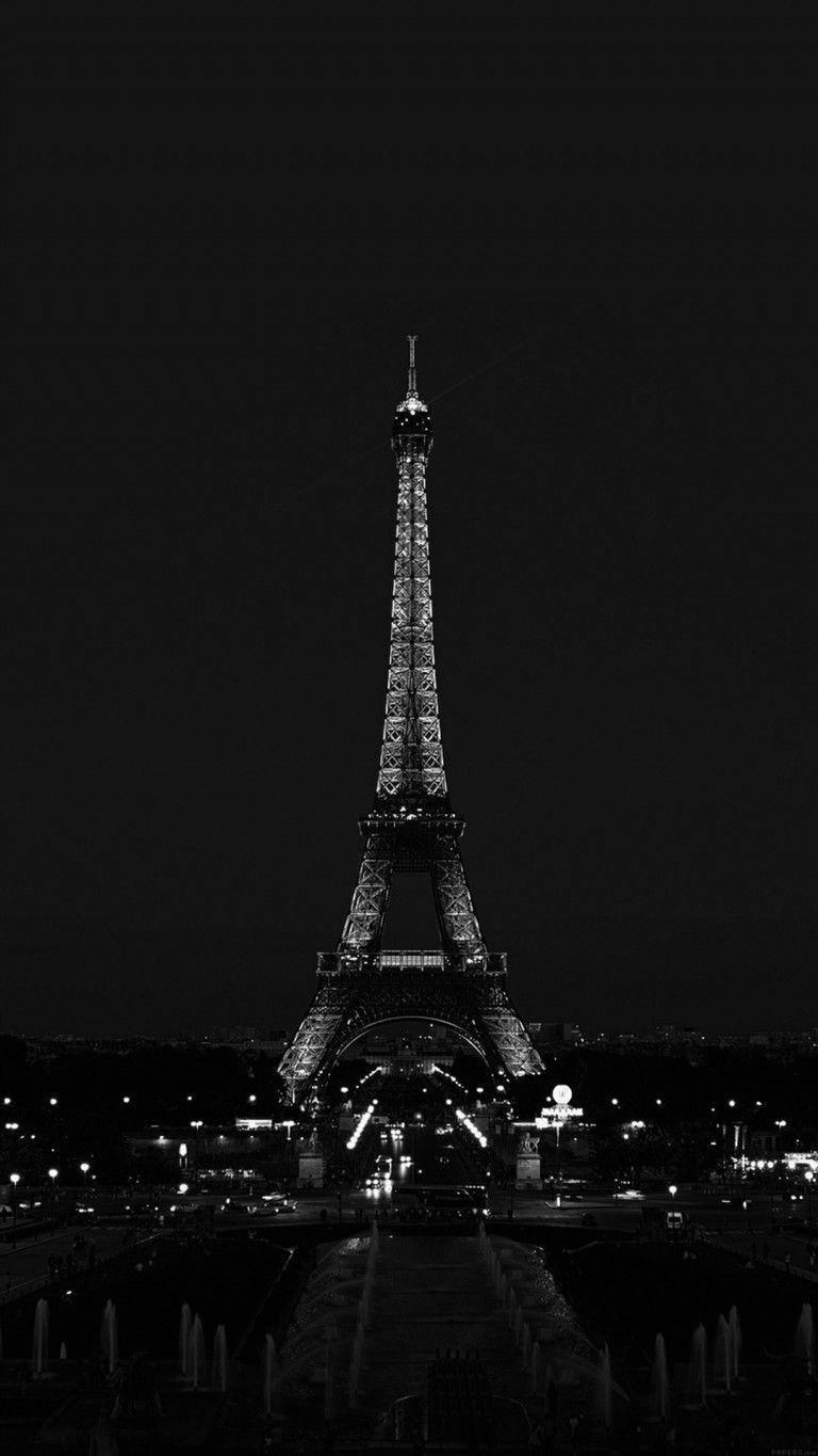 Black And White Eiffel Tower Phone Wallpaper Pinterest Iphone