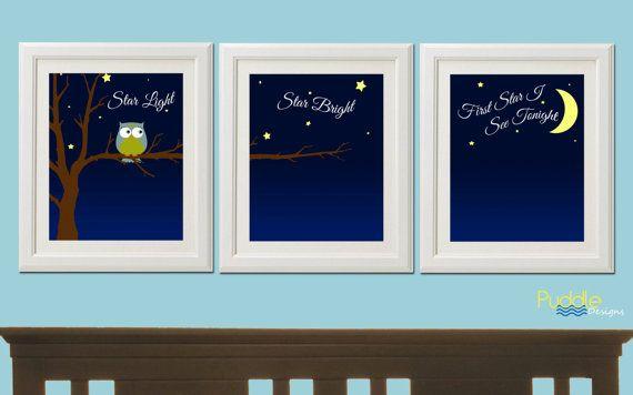 Star Light Star Bright Owl Bedroom Printable Art