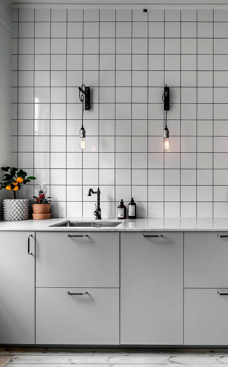 Amazing Minimal Kitchen With An Industrial Touch   Via Coco Lapine Design Blog  #kitcheninteriordesignvintage