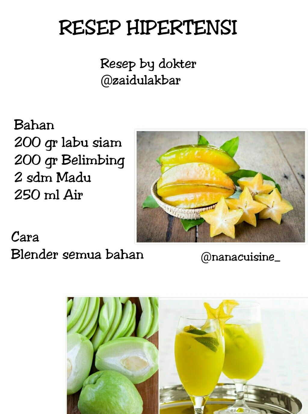 Jsr Zaiful Akbar Resep Diet Sehat Diet Detoks Resep Makanan Sehat
