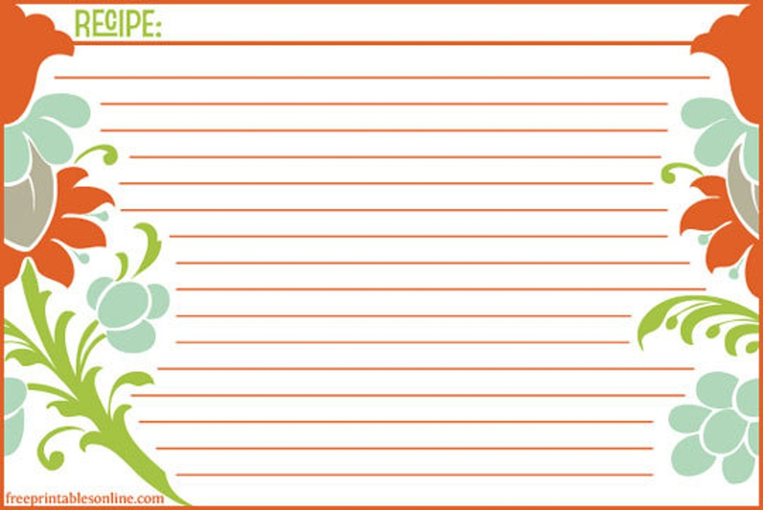 microsoft publisher recipe template