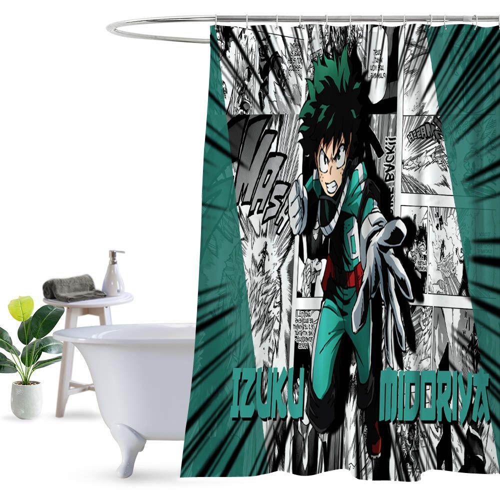 Izuku Midoriya My Hero Academia Shower Curtain 100 Polyester