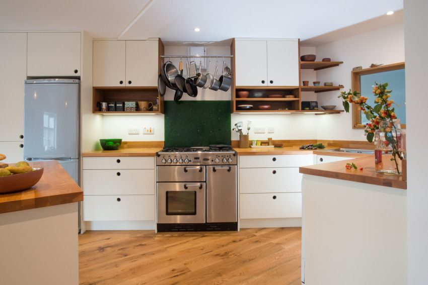 Modern Bespoke Kitchen Scandi Style With Recycled Iroko Shelving Endearing Kitchen Design Sheffield Decorating Design