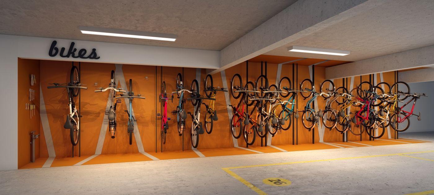 Bicicletário - Interiores Libres - Rotta Ely - POA/RS/Brasil Projeto: Maena _ www.maena.com.br