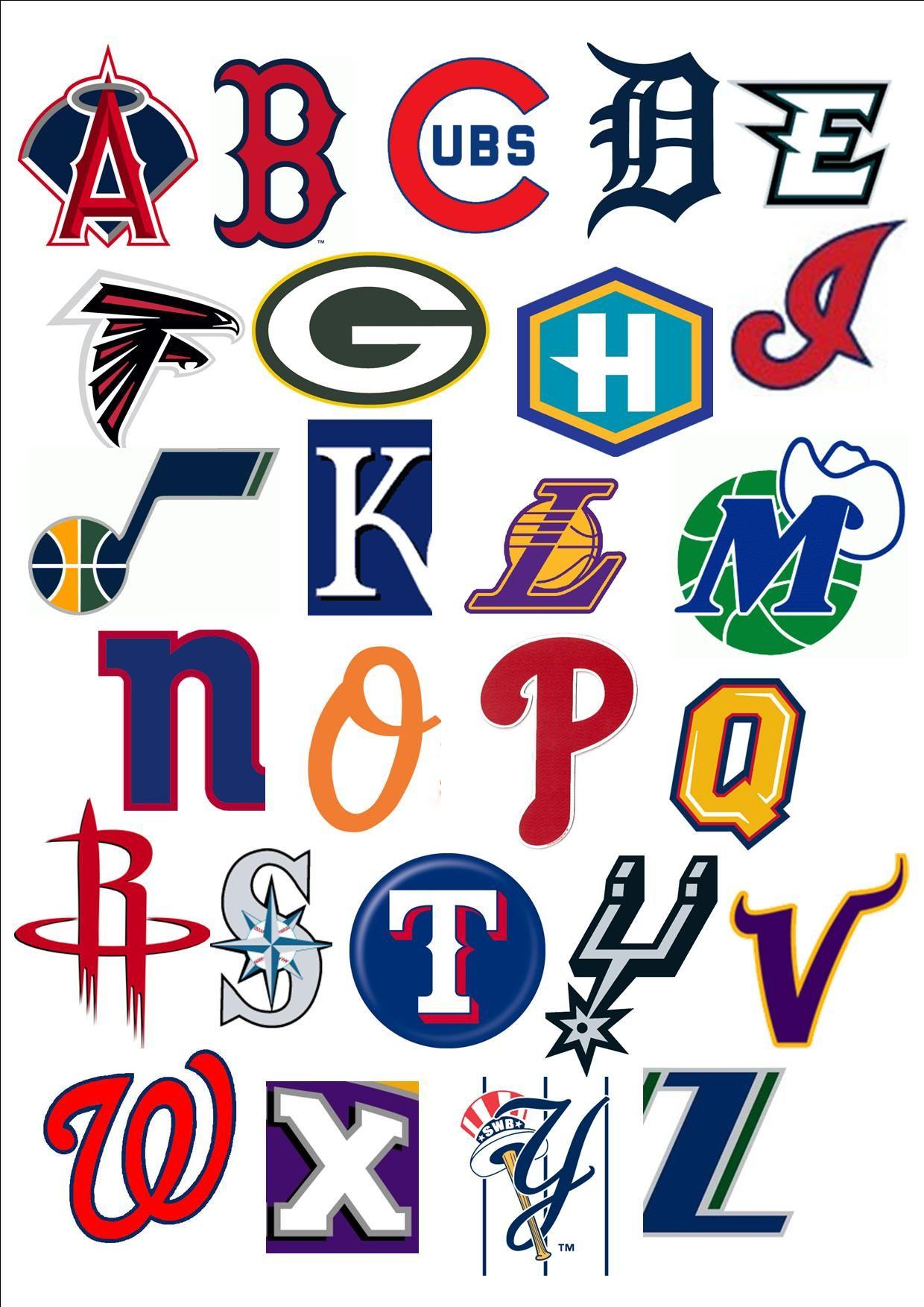Pro Sports Teams Abc Printable
