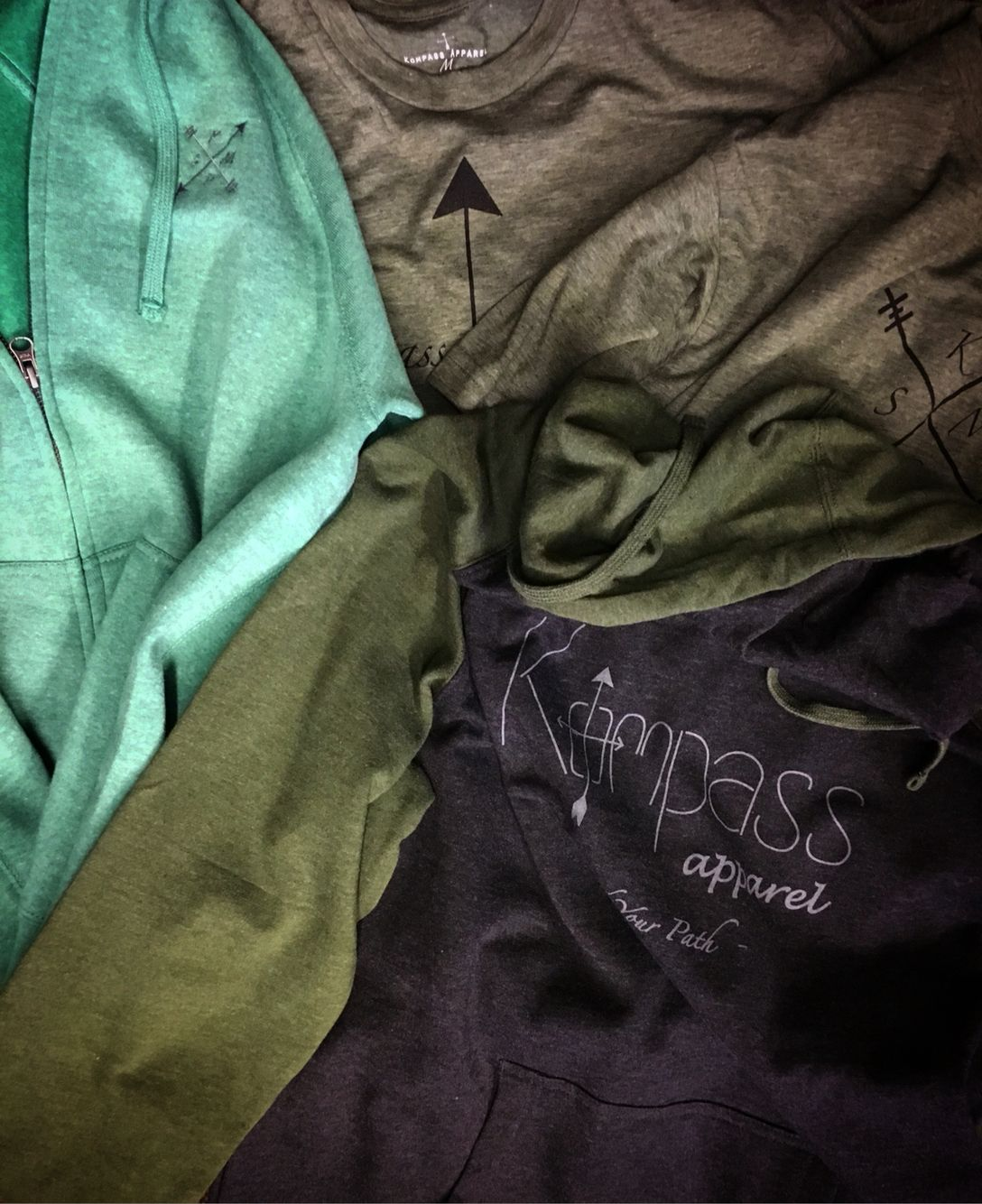 Shop our shades of green! Kompass-apparel.com