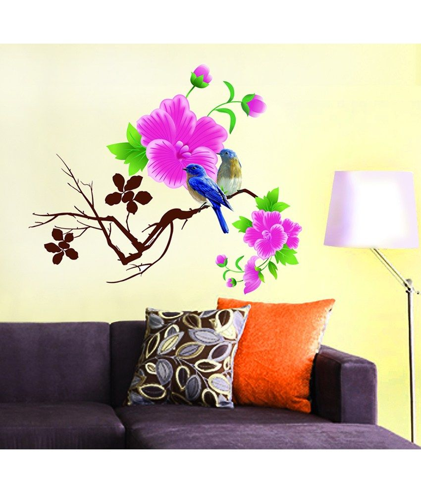 Image result for stick on flowers wall decals | Decorating ...