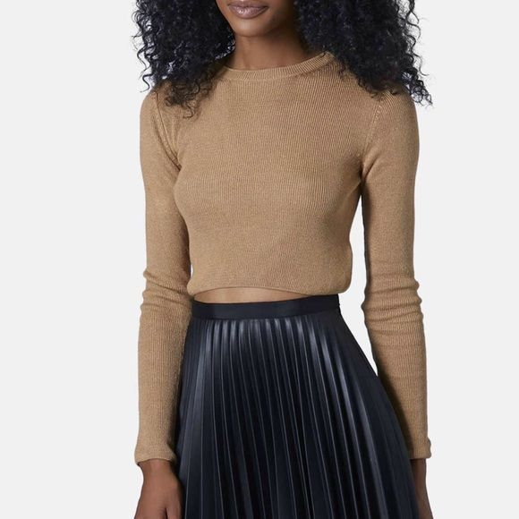 NWT Topshop Crop Sweater - Camel NWT | Hemline, Camels and Topshop