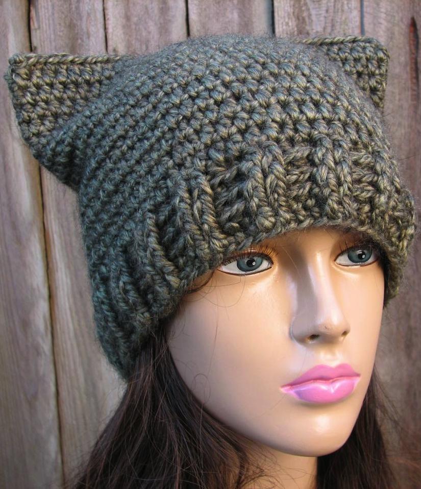 Cat hat crochet pattern … Sombreros de ganchillo