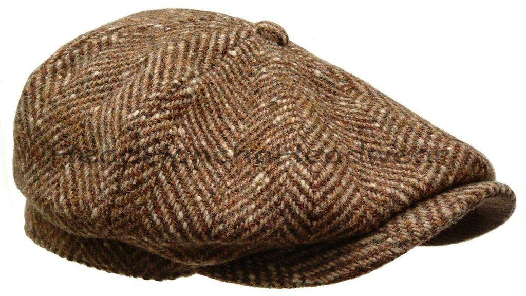 STETSON WOOL TWEED GATSBY Cap Newsboy Hat Golf Men Brown Ivy Flat ... 52643b305cd2