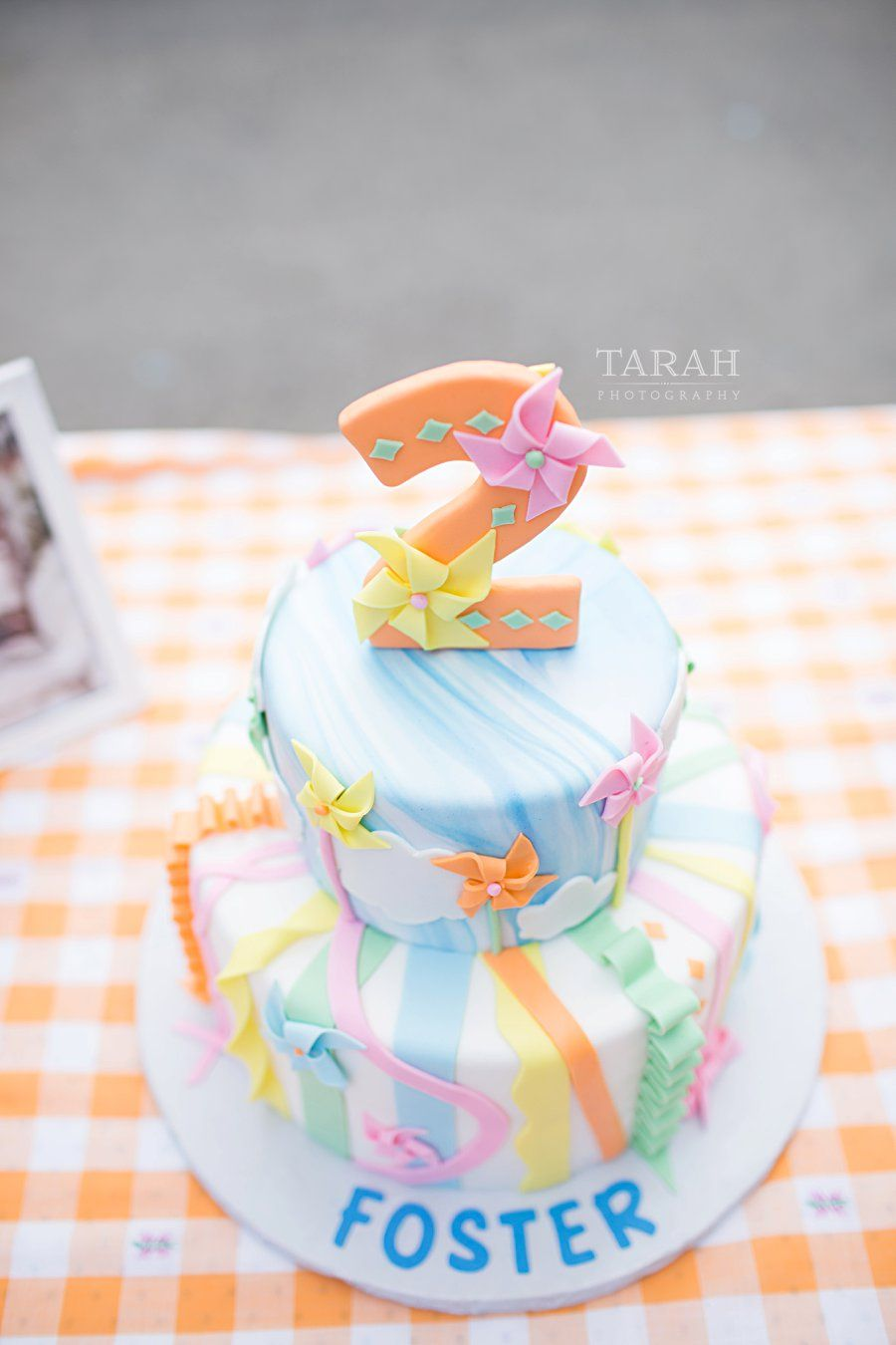 Sf Family Photographer Pinwheel 2nd Birthday Boy Birthday Cake Pinwheels Pinwheel Cake