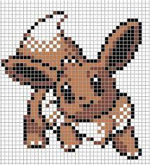 Eevee Pokemon Sprite Grid Sprite Grids Pinterest Stitch