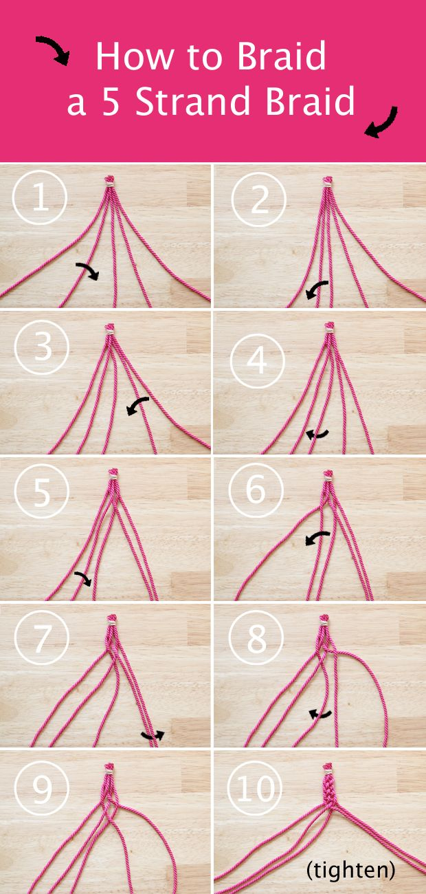 Howto: 5 Strand Braid At Handsoccupied