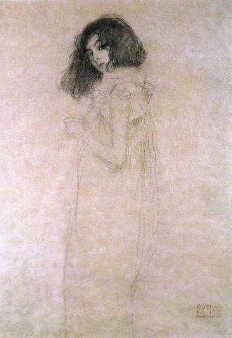 Gustav Klimt - Portrait of a young woman, 1896-97 - jetzt bestellen auf kunst-fuer-alle.de