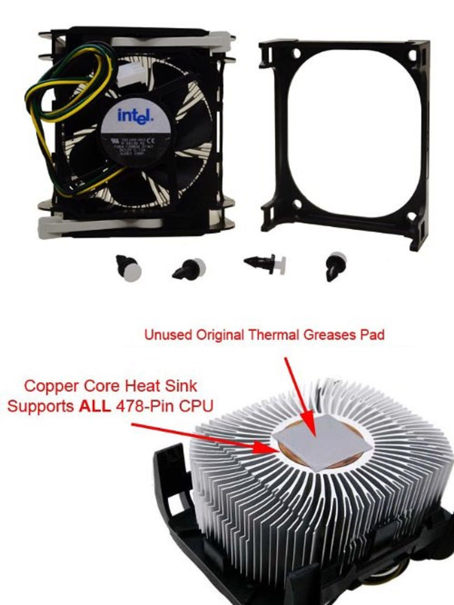 Cpu Fans And Heat Sinks 131486 Intel Socket 478 Cooling Fan Cpu