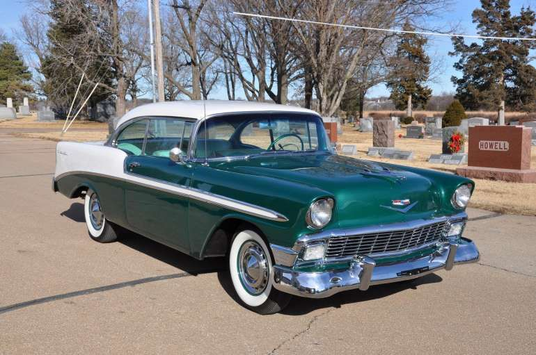 Sherwood Green 1956 Chevrolet Bel Air Sport Coupe Chevrolet Bel