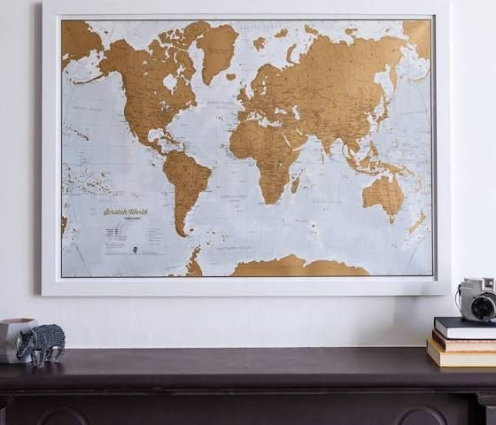 Scratch off world map home decor pinterest scratch off world map gumiabroncs Gallery