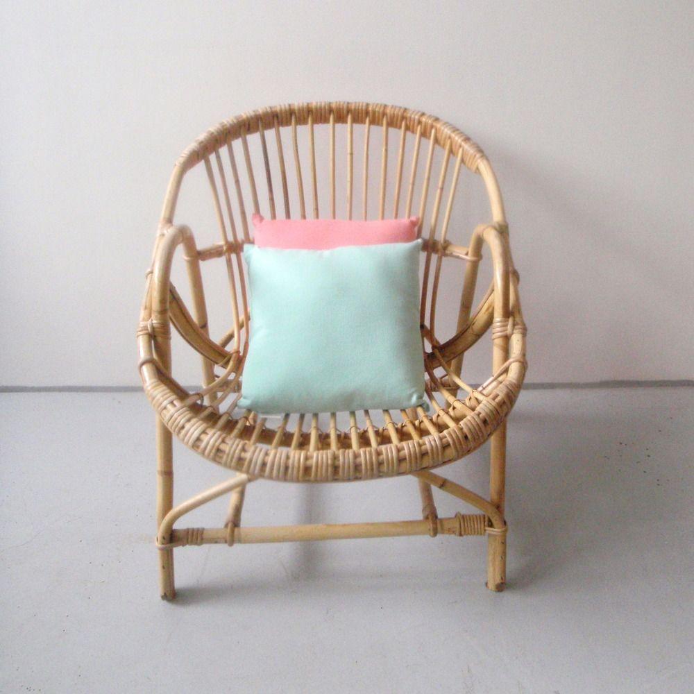 Www Roger Bontemps Fr Fauteuil En Rotin Et Canne De Bambou Annees 50 60 Wicker Chair Rattan Furniture