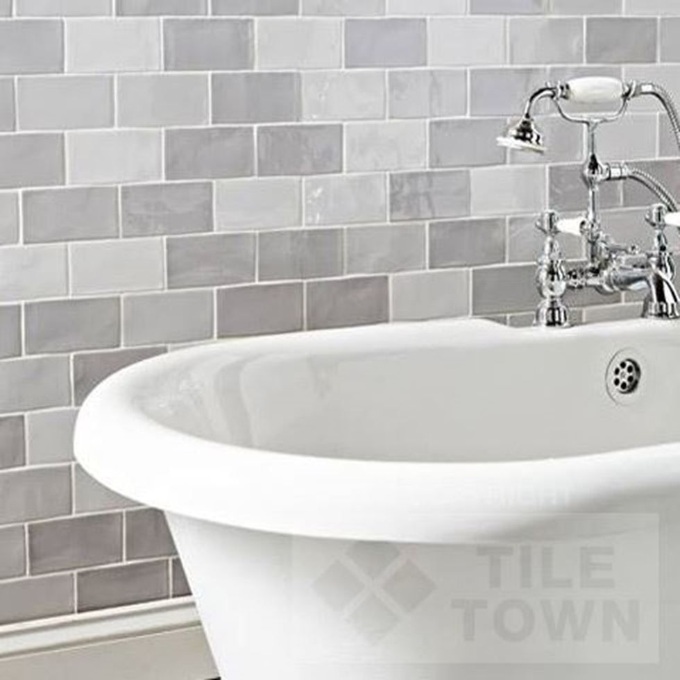 Chic Grey Mix Mix Bathroom Wall Tiles by Cevica (tile factory ...