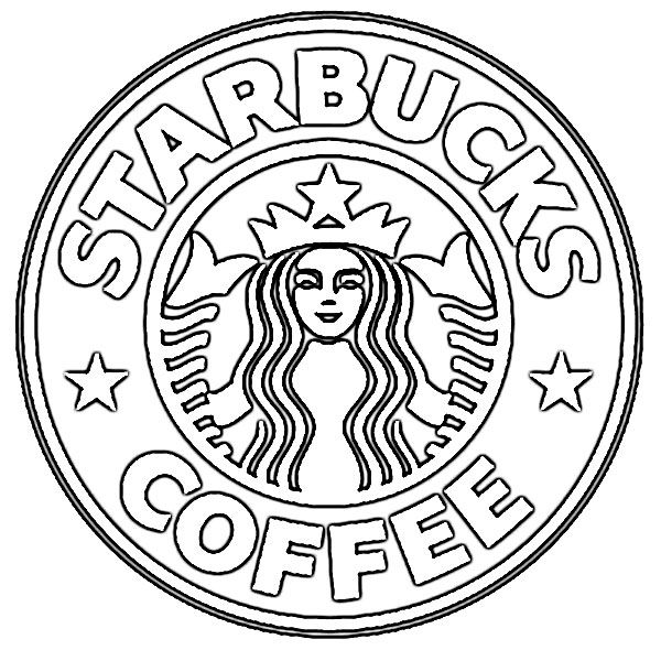 Starbucks Coffee Coloring Pages By Crystal Starbucks Drawing Starbucks Logo Starbucks Art