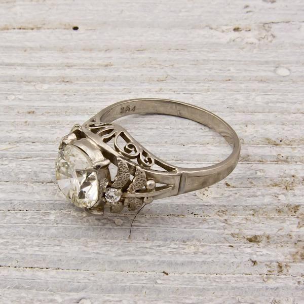Platinum Vintage Engagement Rings Of 1975 43