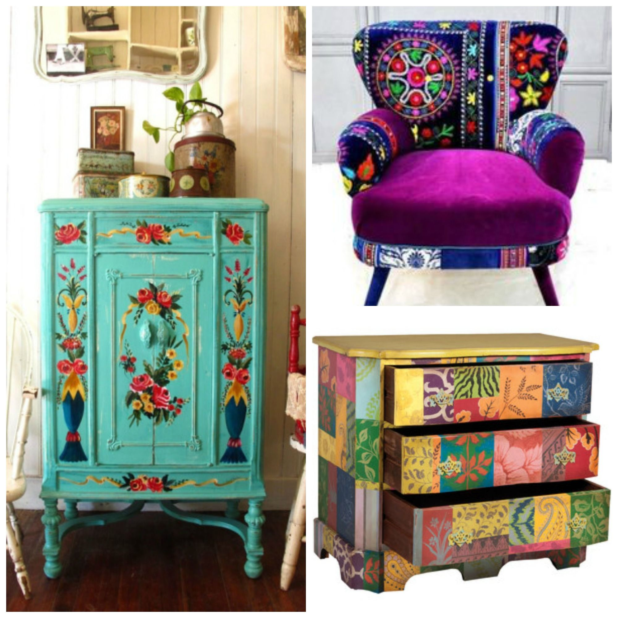 Hippie home decor bohemian interior bohemian decor style for Decorative bedroom furniture
