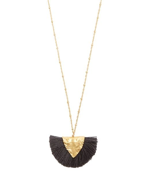 Elise Tsikis Paris Los Craie tassel-pendant gold-plated necklace 8AtZOlS5Yp