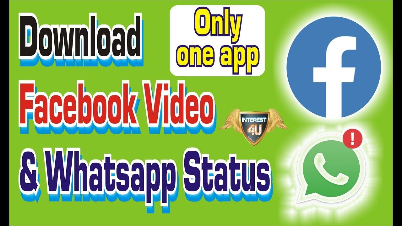 How To Download Facebook Video & Whatsapp Status Show