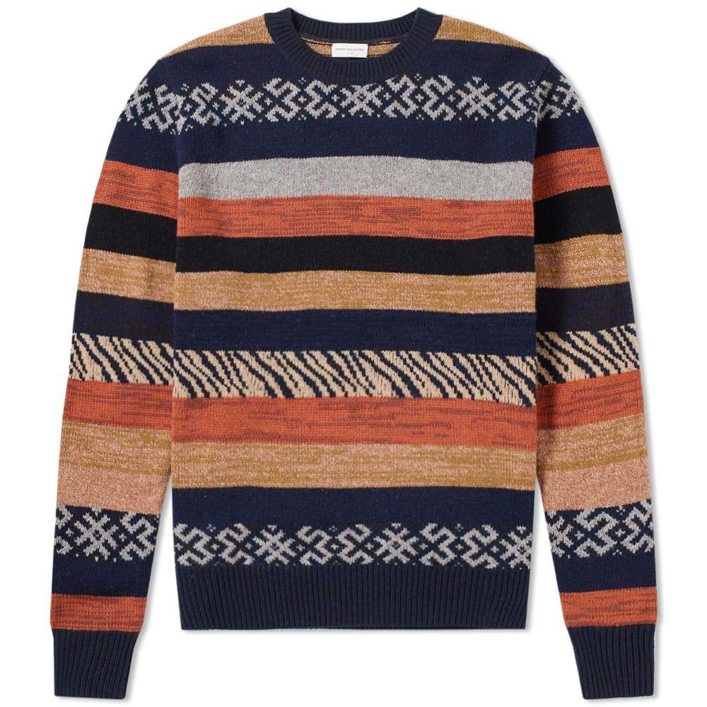 Dries Van Noten Javelin Stripe Jacquard Knit Fashion