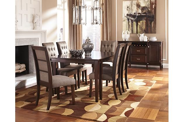 Dark Wood Dining Room Chairs Inspiration Dark Brown Larimer Dining Room Table View 2  Home Sweet Home Design Inspiration
